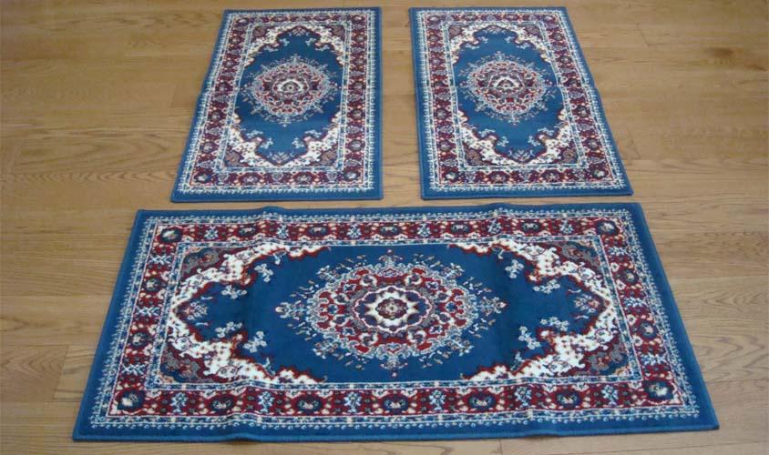 Free tappeto in foto persian light blue with tappeti for Tris tappeti camera da letto