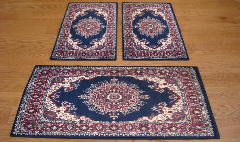 W528 trittico tappeti disegno persiano camera scendiletto - Tappeti scendiletto ...