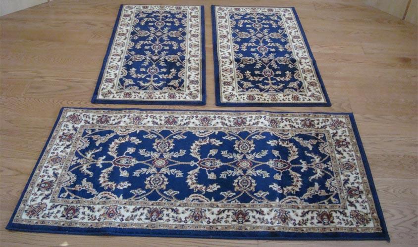 W525 tappeti camera letto 3 pezzi parure tris orientali - Tappeti scendiletto ...