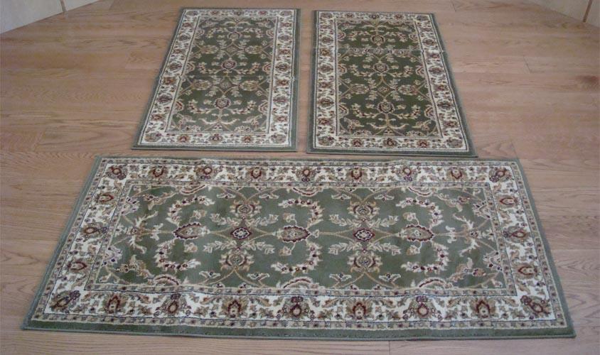 W525 tappeti camera letto 3 pezzi parure tris orientali for Tris tappeti camera da letto
