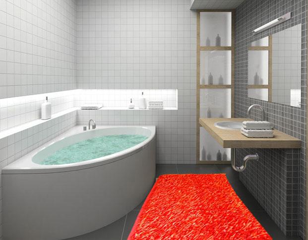 tappeti moderni ebay w397 tappeto moderno per bagno shaggy rosso cm 60x100 ebay