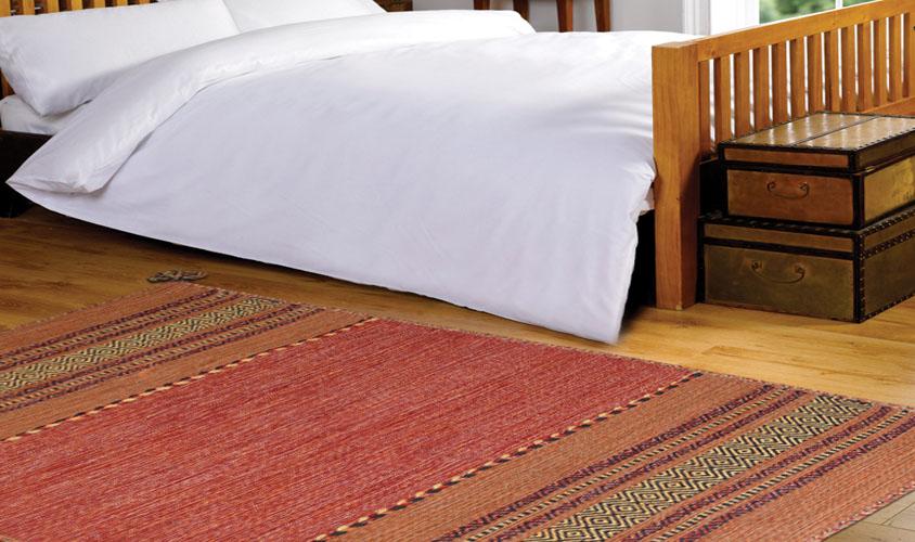 Tappeti Kilim Economici : Tappeto kilim arancione cotone floorita srl
