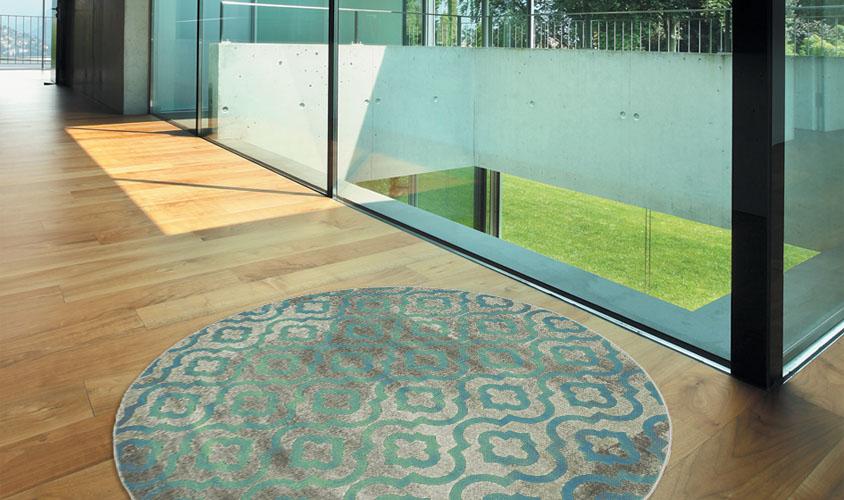 Tappeto Rotondo Portofino Profilo Sagomato : Tappeto rotondo grigio latest nordic moda floor