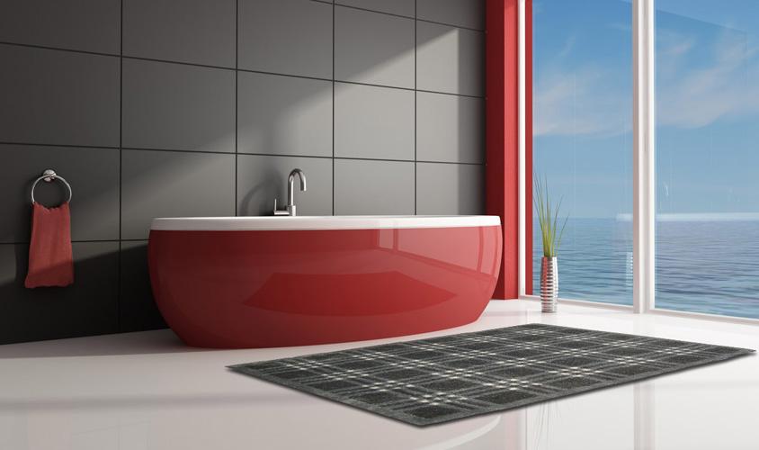 Tappeto bagno grigio idee per il design della casa - Bagno moderno grigio ...