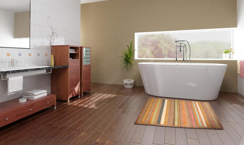 Tappeto bagno moderno a righe color melanzana - Webtappeti.it
