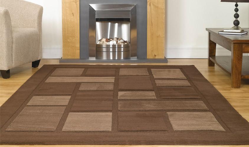 Tappeto economico colore marrone design moderno for Design economico