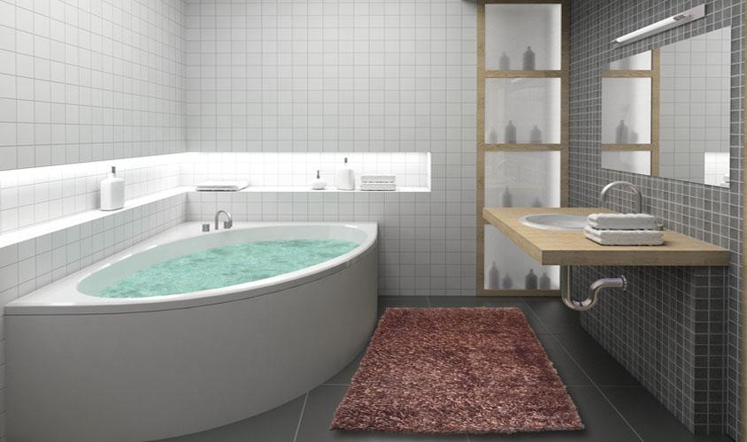Tappeto shaggy marrone ideale per il bagno - Tappeti per il bagno ...