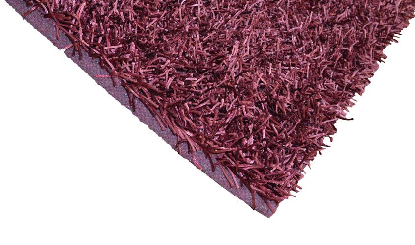W tappeto passatoia moderno shaggy prugna misura cm