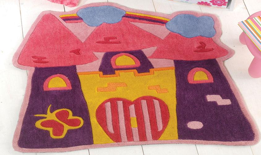 Tappeto bambina rosa castello - Tappeto cameretta bambina ...