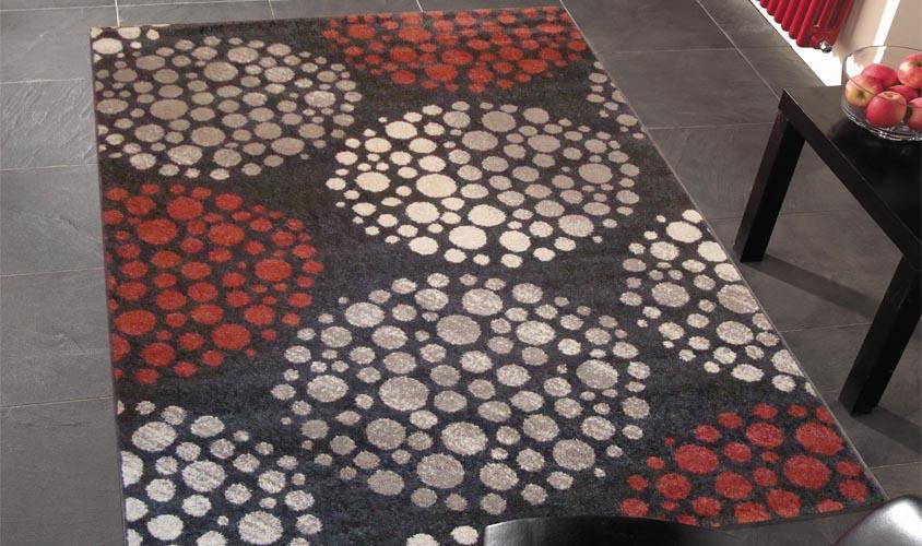Tappeto moderno disegno con cerchi, tappeto morbido   flirt 4330 ...