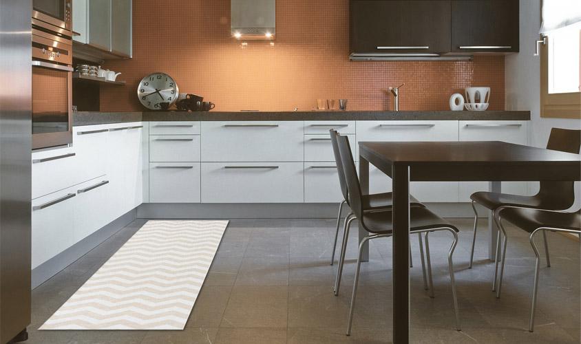 disegno bagno Beige : Tappeti Bagno Beige : Stuoia cucina disegno optical bianco e beige ...