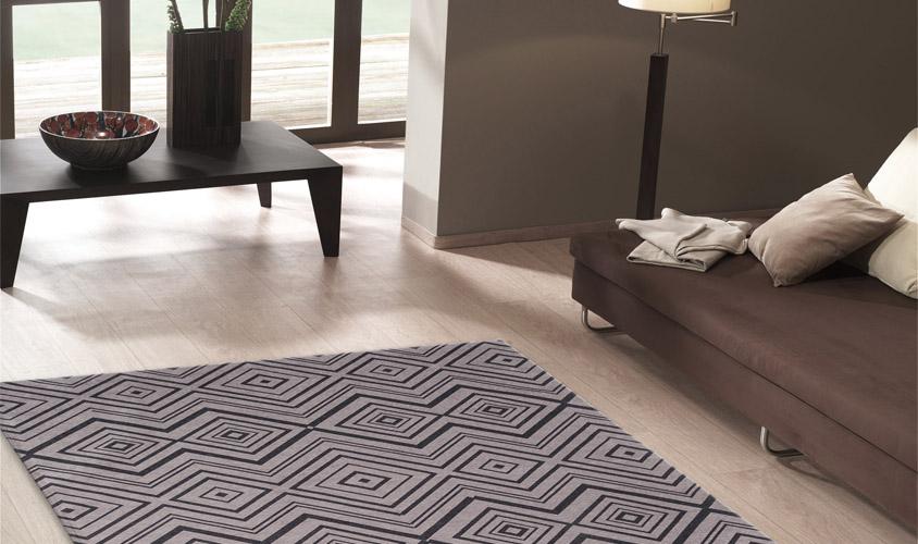 Tappeto disegno moderno geometrico grigio nero - CITY LOFT ...