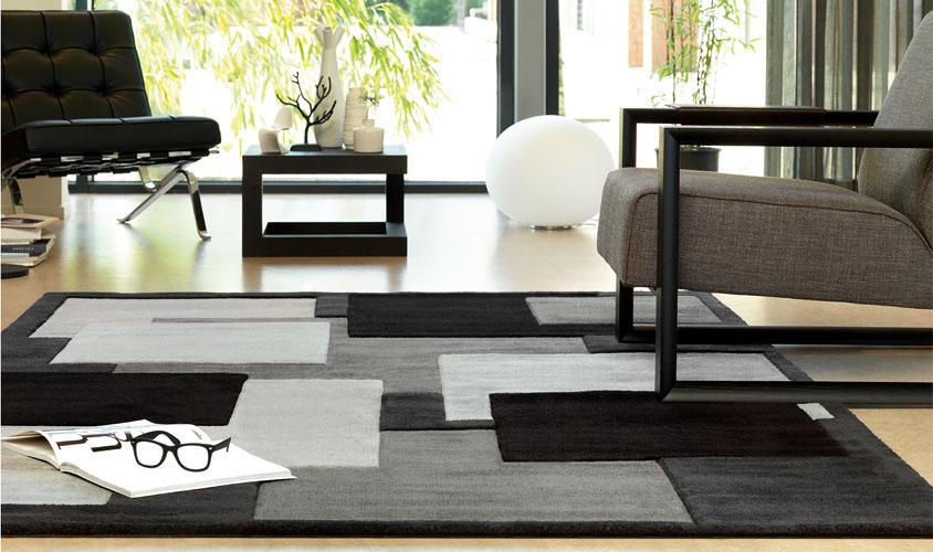 Tappeti moderni grigi il miglior design di ispirazione e for Tappeti soggiorno moderni