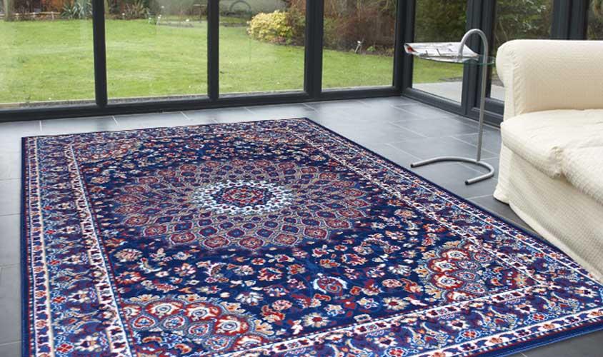Tappeto classico royal shiraz 2082 blue tappeti disegni - Pulizia tappeto persiano ...