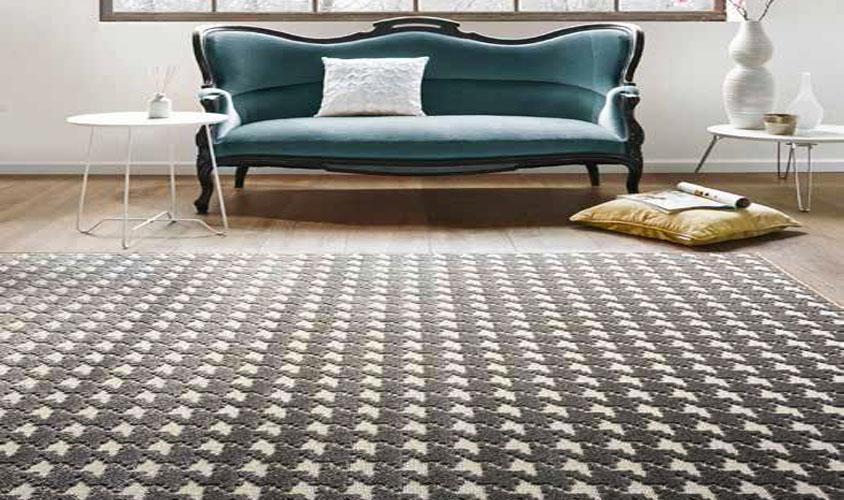 tappeto moderno, disegno pied de poule grigio - zen 40109-30