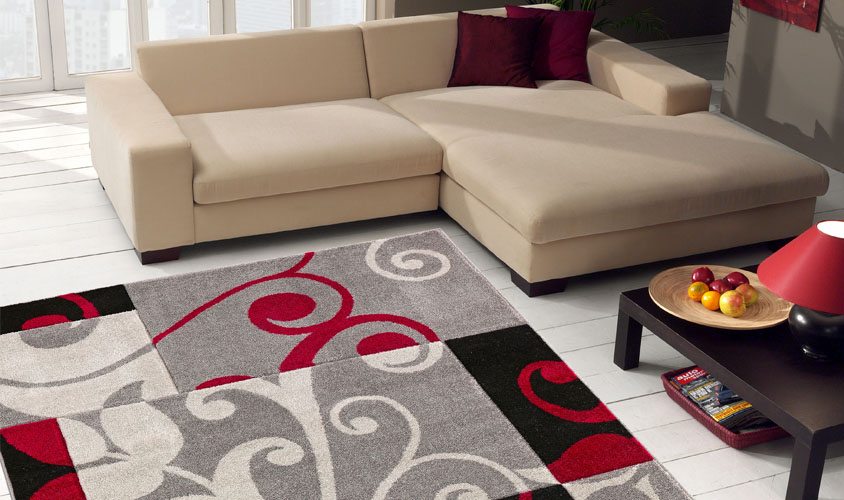 Tappeti Soggiorno Moderno : Tappeto moderno effetto scolpito damascato intarsio