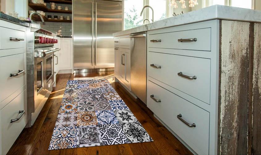 Stuoia cucina disegno mosaico piastrelle siciliane azulejos